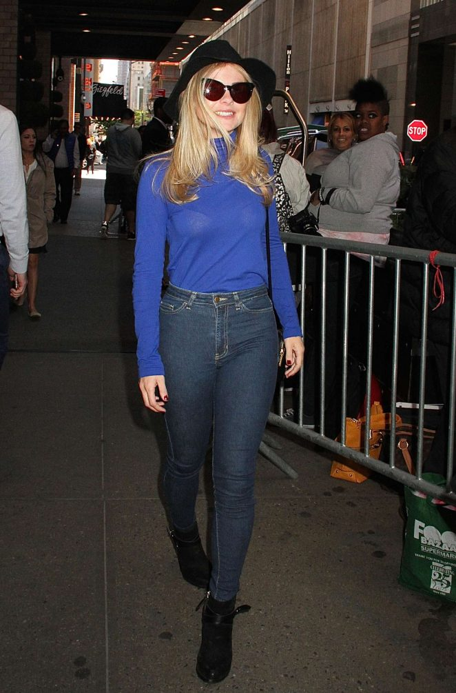 Rose McIver in Jeans Out in New York
