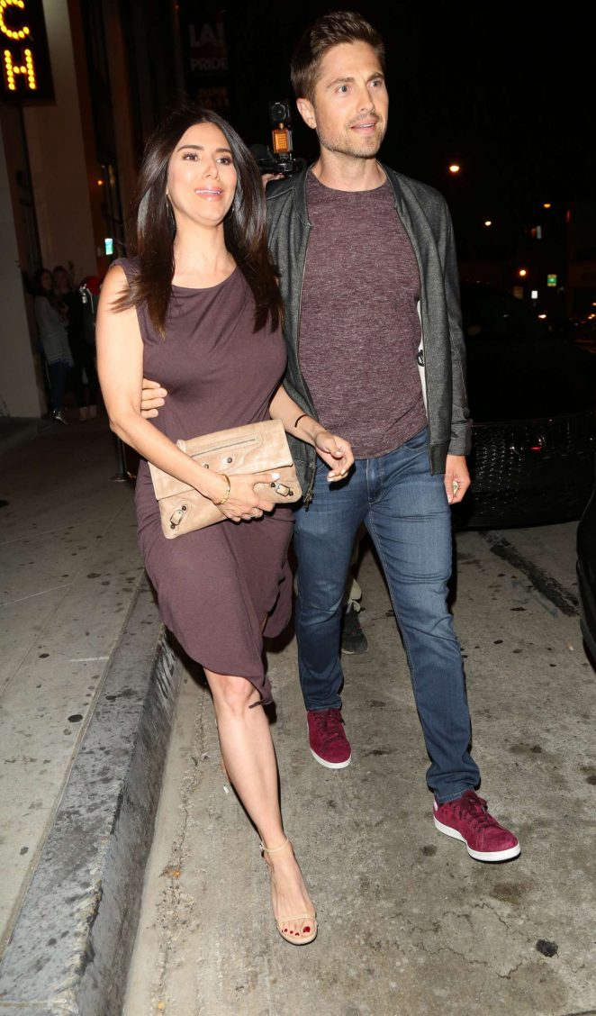 Roselyn Sanchez and husband Eric Winter at Catch Restaurant in LA