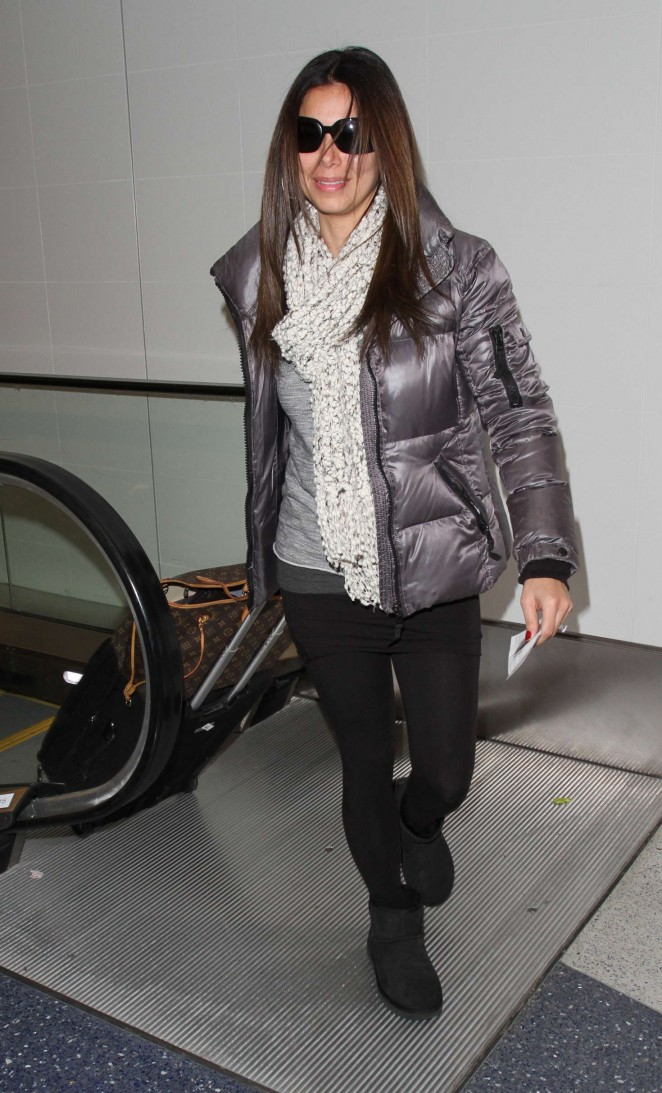 Roselyn Sanchez - Arriving at LAX Airport in LA