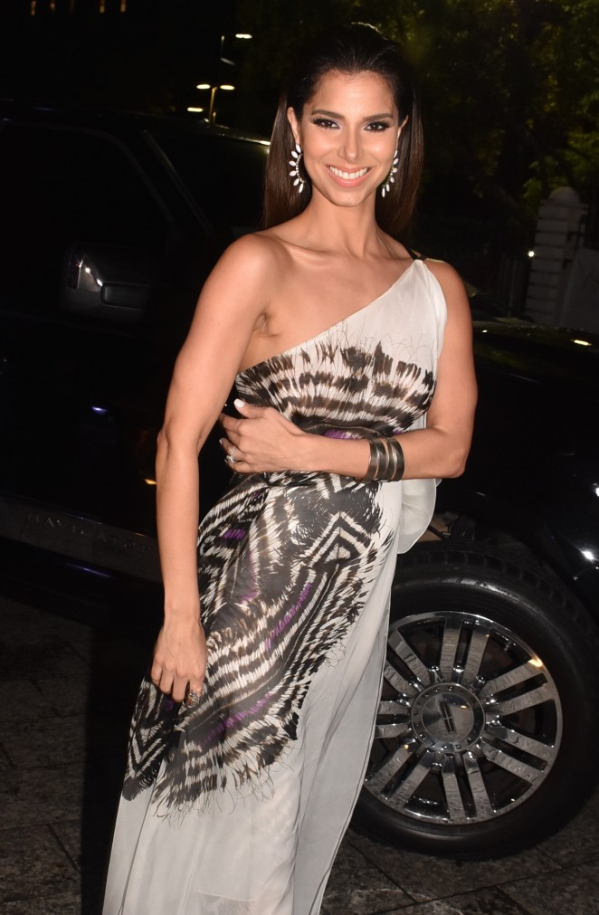 Roselyn Sanchez at Social Event in Puerto Rico Museum of art San Juan