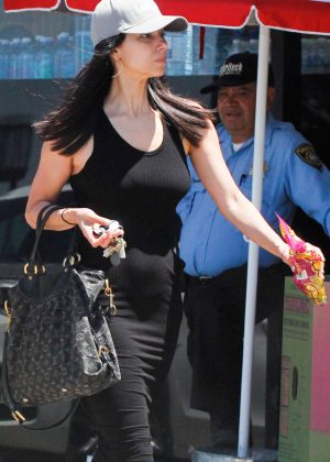 Roselyn Sanchez at Trader Joe's in Studio City
