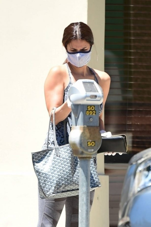 Roselyn Sanchez drops her card at the Meter in LA
