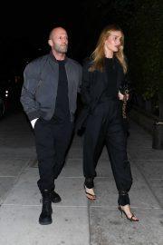 Rosie Huntington Whiteley and Jason Statham - Arrive for dinner at Matsuhisa in Beverly Hills