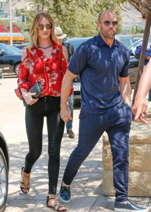 Rosie Huntington Whiteley and Jason Statham Arriving at their house in Soho