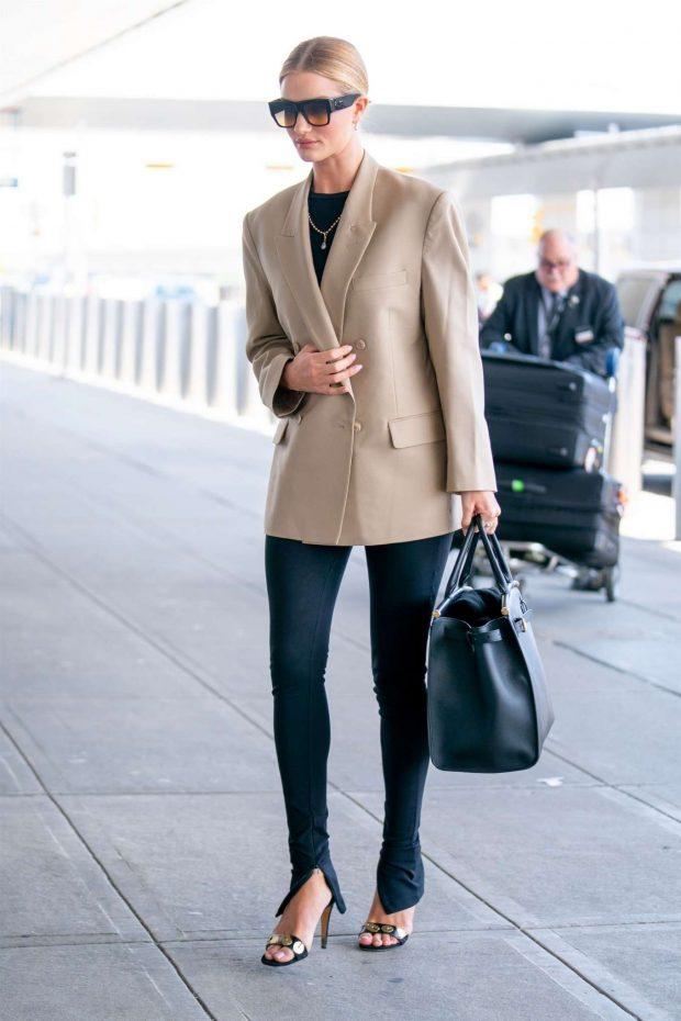 Rosie Huntington Whiteley: Arrives at JFK Airport -01
