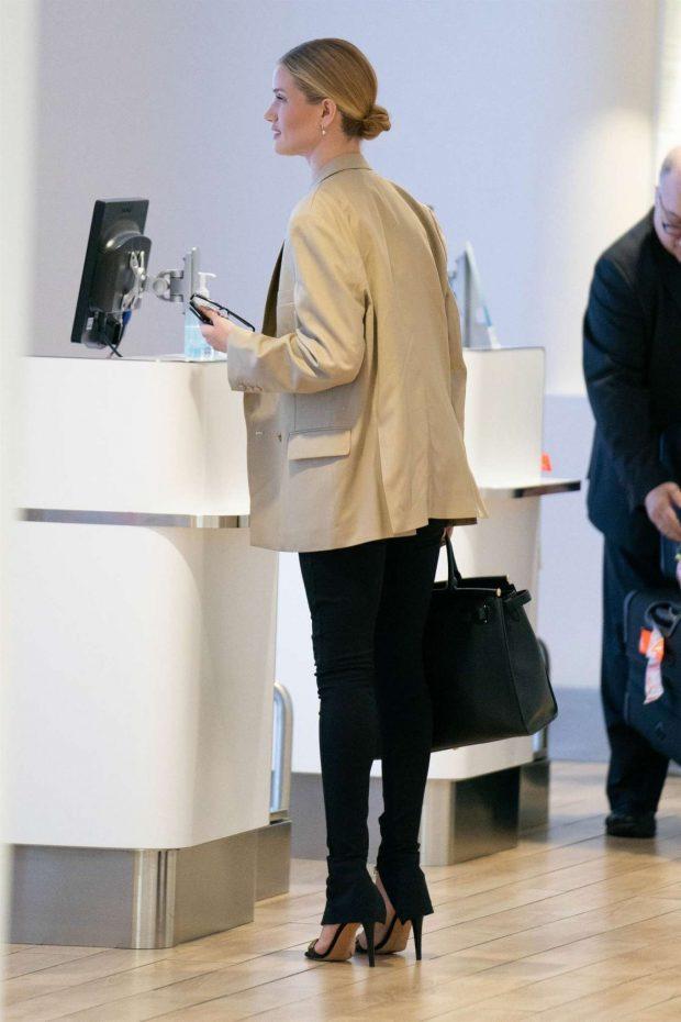 Rosie Huntington Whiteley: Arrives at JFK Airport -03