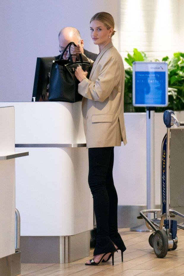 Rosie Huntington Whiteley: Arrives at JFK Airport -17