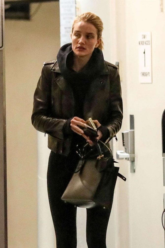 Rosie Huntington Whiteley - Arrives at Lancer Skin Care Clinic in Beverly Hills