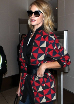 Rosie Huntington Whiteley - Arrives at LAX Airport in LA