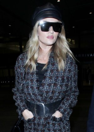 Rosie Huntington Whiteley - Arrives at LAX Airport in Los Angeles