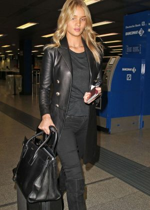 Rosie Huntington Whiteley arrives at Milan Airport