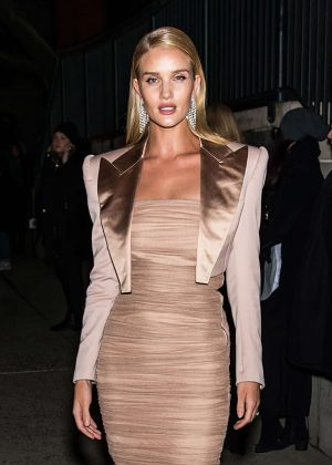 Rosie Huntington Whiteley - Arrives at Tom Ford Fashion Show 2018 in NY