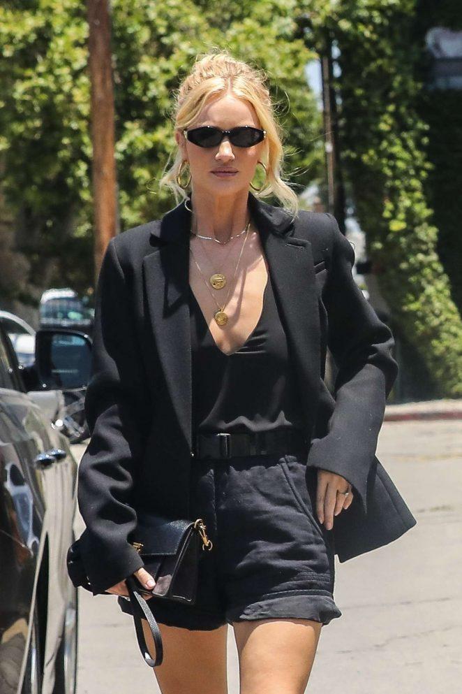 Rosie Huntington Whiteley - Arriving at an art gallery in Santa Monica