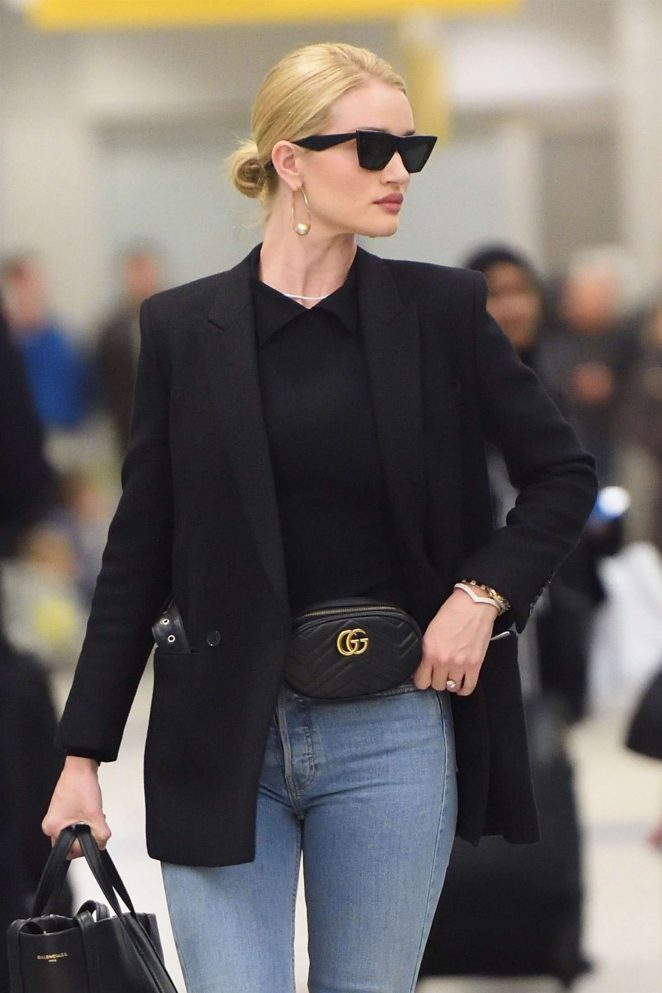Rosie Huntington Whiteley - Arriving at JFK airport in NYC
