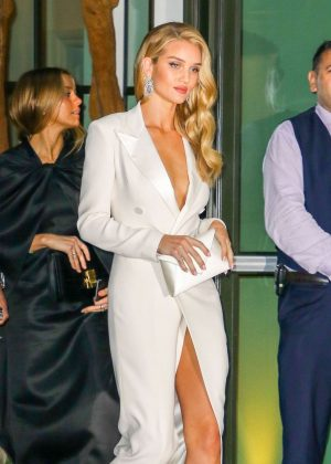 Rosie Huntington Whiteley - Arriving at Ralph Lauren 50th Anniversary Party in NY