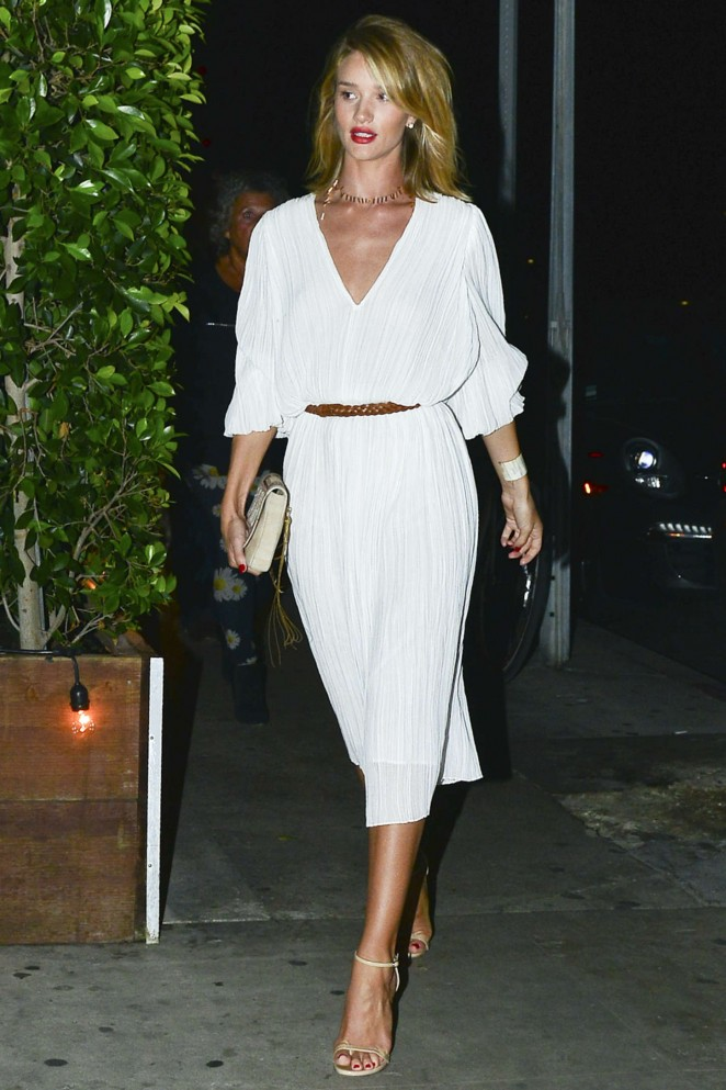 Rosie Huntington Whiteley at Giorgio Baldi in Santa Monica