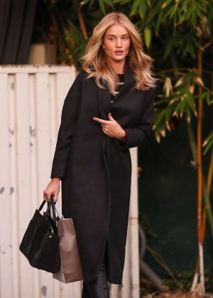 Rosie Huntington Whiteley at Kinara Spa in West Hollywood