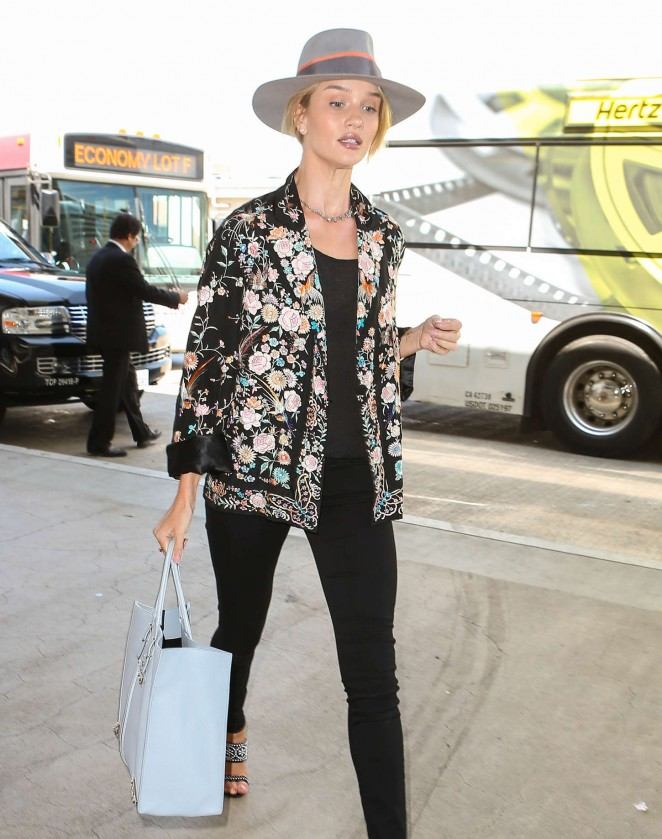 Rosie Huntington Whiteley at LAX airport in LA