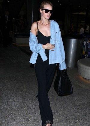 Rosie Huntington Whiteley at LAX International Airport in LA