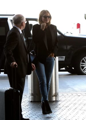 Rosie Huntington Whiteley at LAX International Airport in Los Angeles