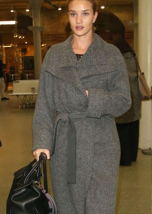 Rosie Huntington Whiteley at Station Kings Cross St Pancras International in London