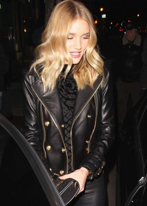 Back to post Rosie Huntington Whiteley at the Palm Restaurant in ...