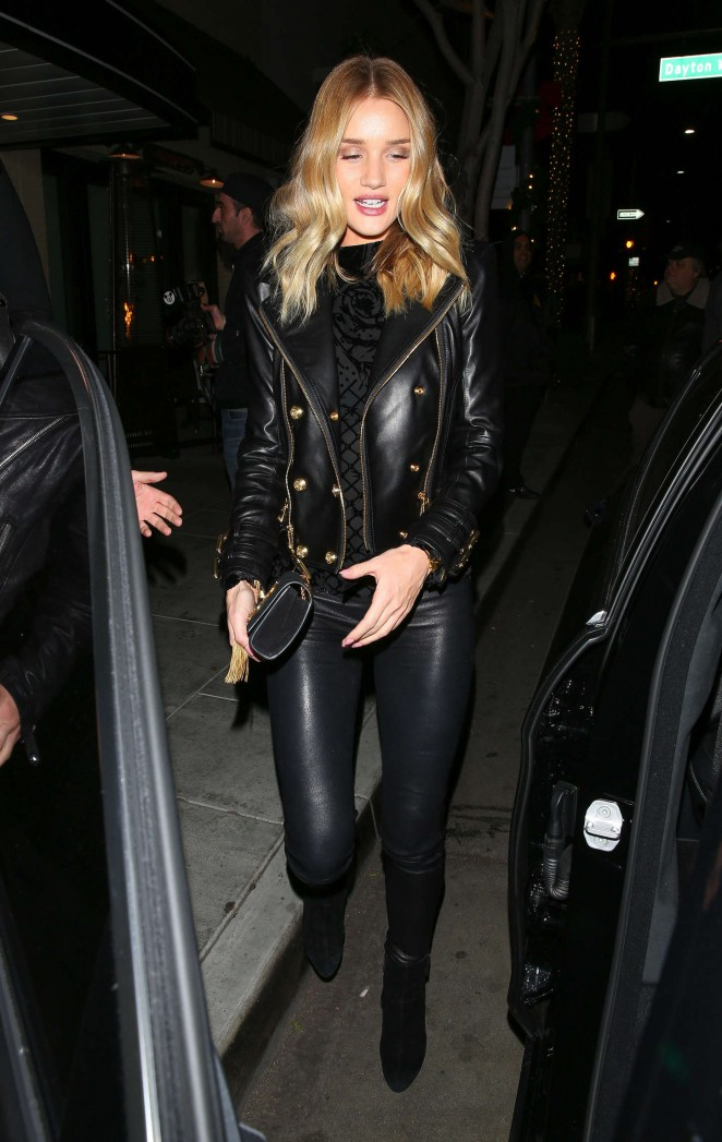Rosie Huntington Whiteley at the Palm Restaurant in Beverly Hills