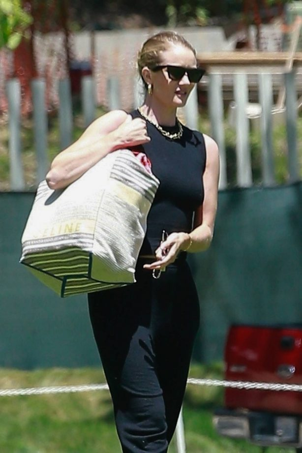 Rosie Huntington Whiteley at the park in Los Angeles