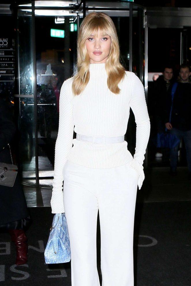 Rosie Huntington Whiteley - Attending the Brandon Maxwell Fashion Show in New York
