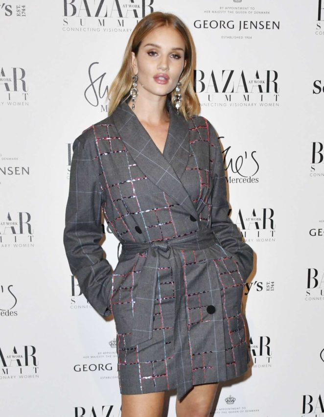Rosie Huntington Whiteley – Bazaar at Work VIP Cocktail Party in London