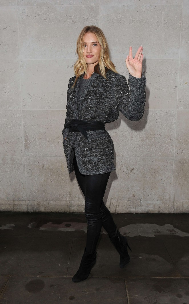 Rosie Huntington-Whiteley - BBC Radio 1 Studios in London