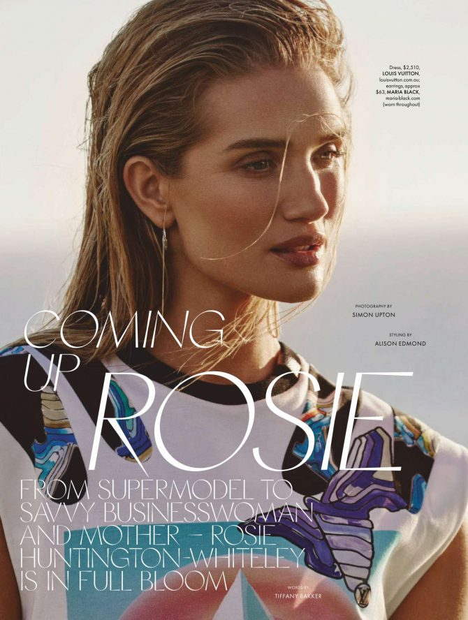 Rosie Huntington Whiteley: Elle Australia 2019 -03