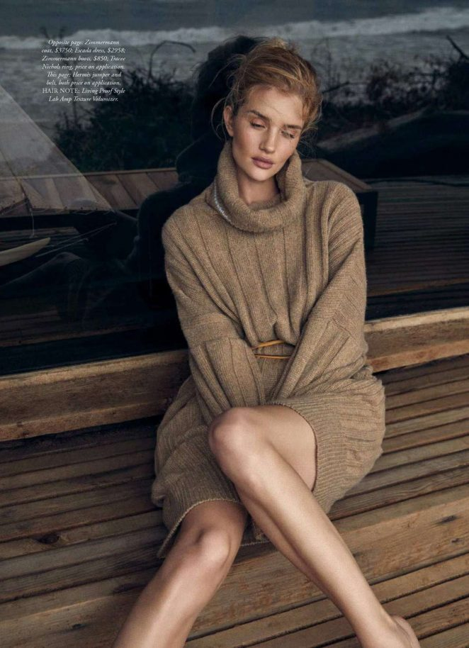 Rosie Huntington Whiteley - Harper's Bazaar Australia Magazine (June/July 2018)