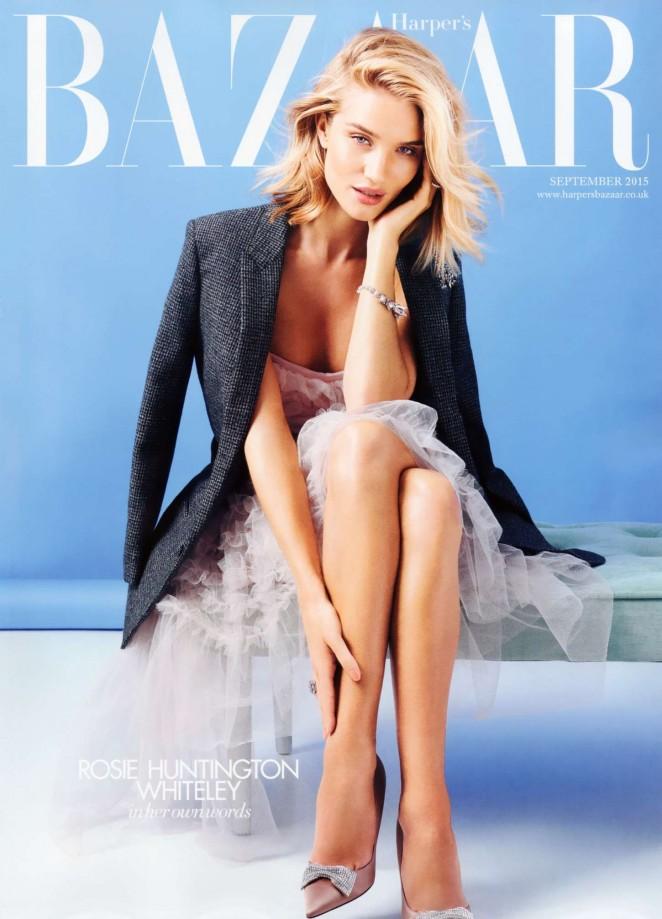 Rosie Huntington Whiteley - Harpers Bazaar UK Cover (September 2015)