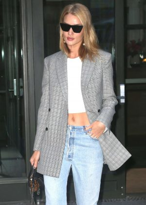 Rosie Huntington Whiteley in Jeans out in New York City