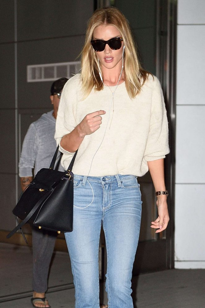 Rosie Huntington Whiteley in Jeans out in NYC
