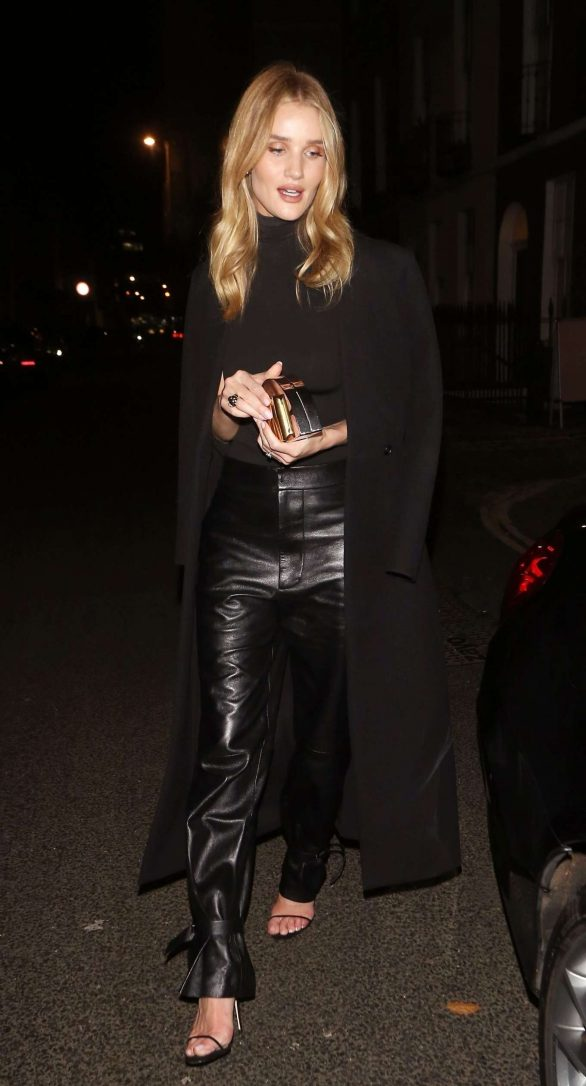 Rosie Huntington Whiteley 2019 : Rosie Huntington Whiteley in Leather Pants-07