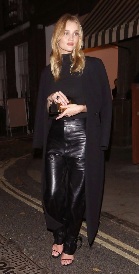 Rosie Huntington Whiteley 2019 : Rosie Huntington Whiteley in Leather Pants-10
