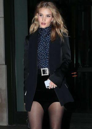 Rosie Huntington Whiteley in Shorts - Leaving her hotel in NYC