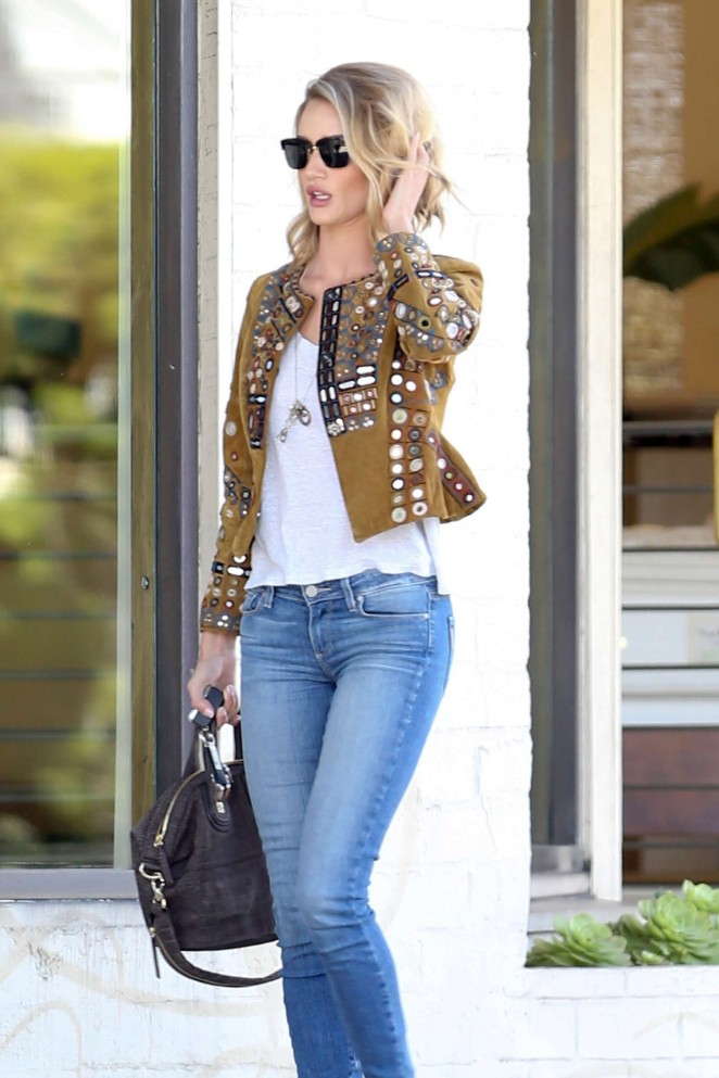 Rosie Huntington-Whiteley in Tight Jeans out in LA