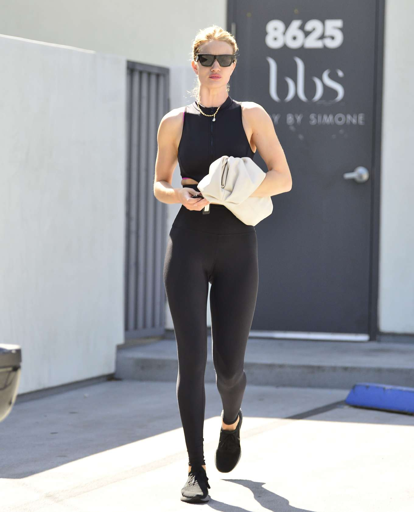 Rosie Huntington Whiteley - Leaves Pilates session in West Hollywood