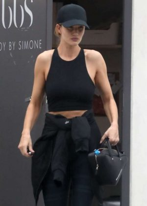 Rosie Huntington Whiteley - Leaves the Body By Simone gym in West Hollywood