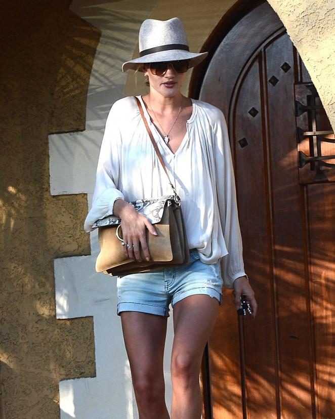 Rosie Huntington Whiteley – Leaving a friend's house in LA