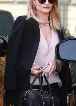 Rosie Huntington Whiteley Leaving her office in Beverly Hills
