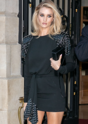 Rosie Huntington Whiteley - Leaving The Ritz Hotel in Paris