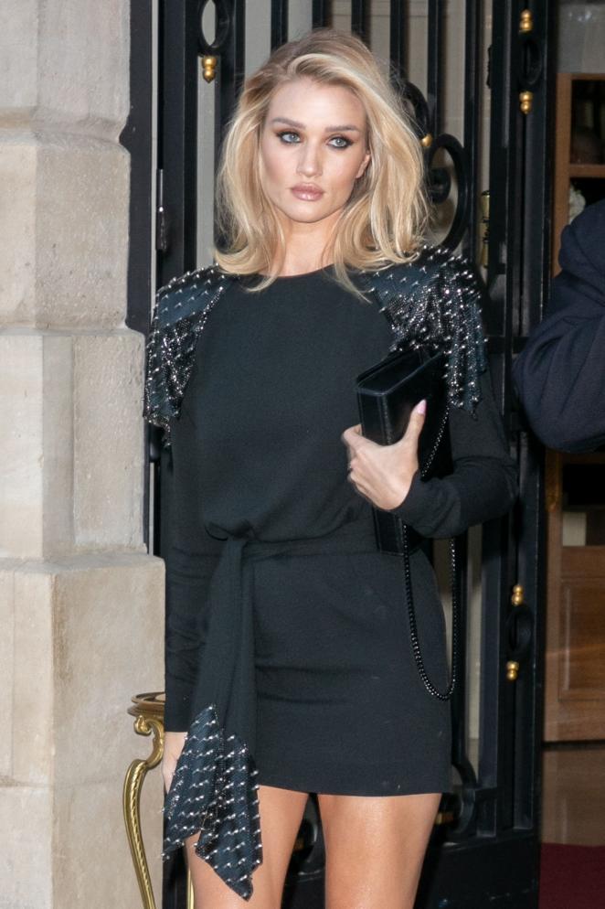 Rosie Huntington Whiteley - Leaving The Ritz Hotel in Paris