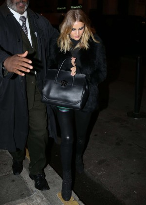 Rosie Huntington Whiteley Leaving the Versace Haute Coutur Show in Paris
