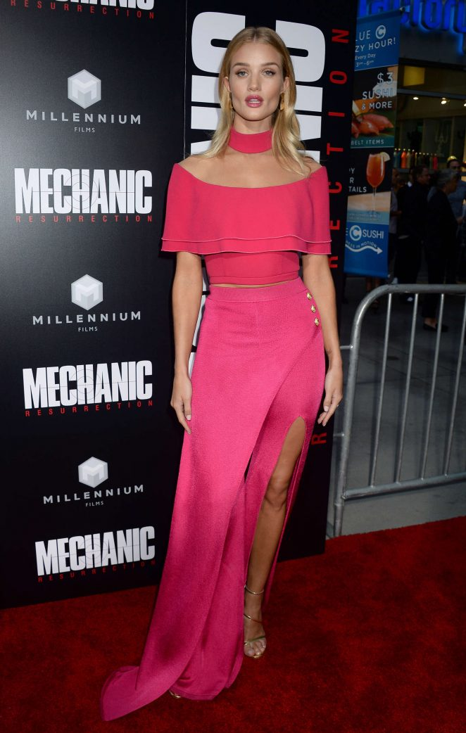 Rosie Huntington Whiteley - 'Mechanic: Resurrection' Premiere in Los Angeles