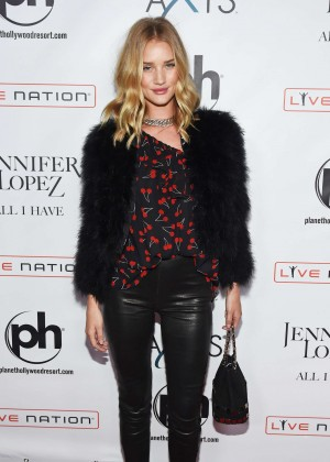 Rosie Huntington Whiteley - Opening night of Jennifer Lopez's 'All I Have' Residency in Las Vegas