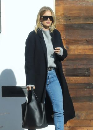 Rosie Huntington Whiteley out for a meeting in LA
